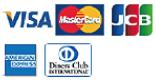 お支払い方法:VISA・MasterCard・JCB・AMERICAN EXPRESS・Diners Club可
