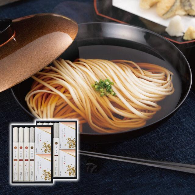 花山御膳うどん冬の8把つゆ付き詰合せ(GMB-8K)【化粧箱入りギフト】