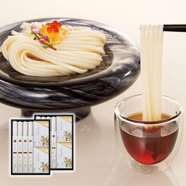 花山御膳うどん夏の8把つゆ付き詰合せ(GYM-8T)【化粧箱入りギフト】