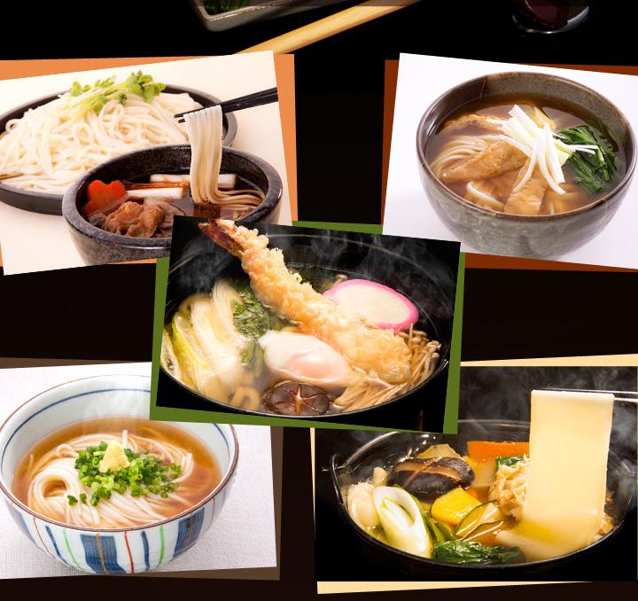 三冬麺 麺とつゆのいろいろな組み合わせ2